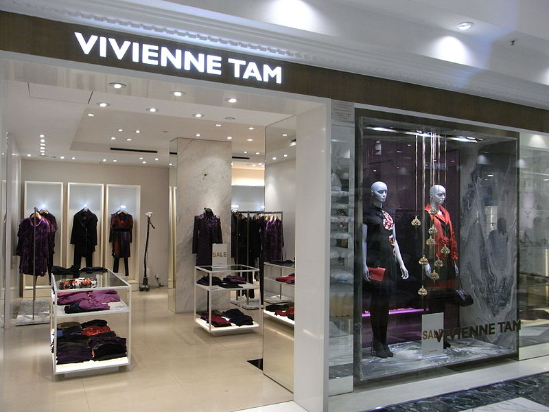 A Vivienne Tam store; Vivienne Tam collaborated with Zeuse to create the Zeuse Classic