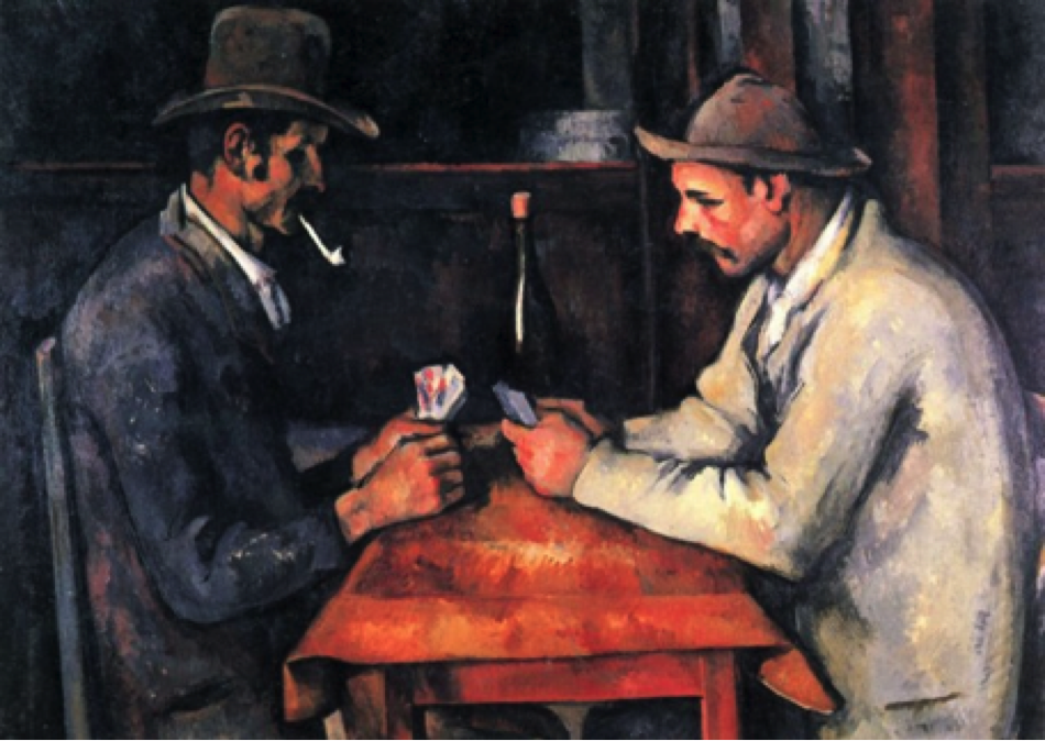 """Figure 1: """"The Card Players,"""" Paul Cézanne, 1980-1990 (sold for $250 million)"""